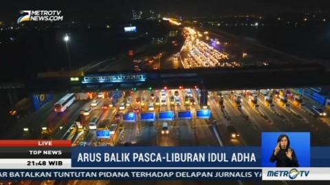 Arus Balik, GT Cikarang Utama Ramai Lancar