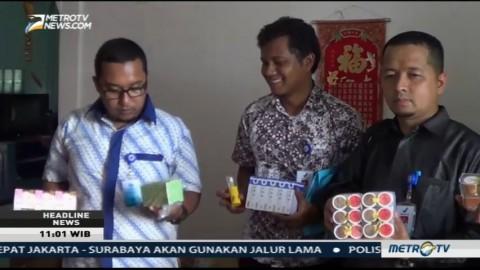Gudang Kosmetik Ilegal di Tanjungpinang Digerebek Petugas