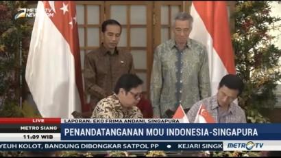 Presiden Jokowi Teken 4 MoU dengan PM Singapura