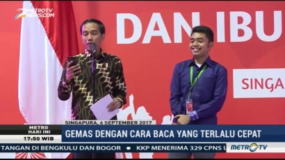 Jokowi Baca Puisi Karya Mahasiswa Indonesia