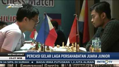 Percasi Gelar Laga Persahabatan Juara Junior Catur Indonesia vs Filipina