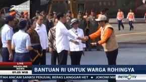 Jokowi Lepas Keberangkatan Bantuan Kemanusiaan untuk Pengungsi Rohingya