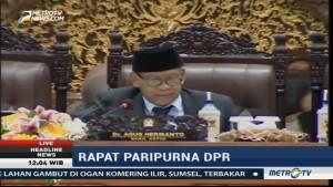 DPR Gelar Rapat Paripurna Bahas Waktu Kerja Pansus RUU Terorisme