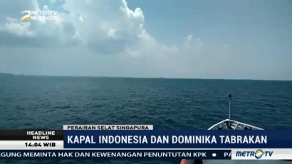 Kapal Indonesia dan Dominika Tabrakan di Singapura, 5 ABK Hilang