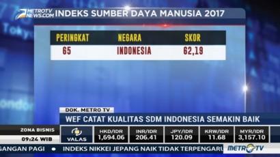 WEF Catat Kualitas SDM Indonesia Semakin Baik