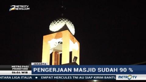 Pengerjaan Masjid Jami Al-Mubarokah di Kalijodo Sudah 90%