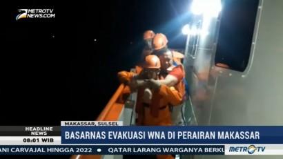 Basarnas Evakuasi ABK Asal Filipina di Perairan Makassar