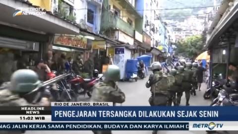 Ada Baku Tembak, Tentara Tutup Jalan-jalan di Rio de Janeiro