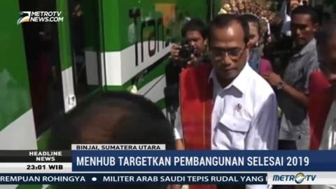 Menhub Pastikan Pembangunan Rel Kereta Api Trans Sumatra Dilanjutkan Tahun Ini