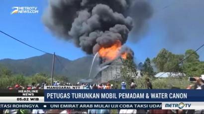 Gudang Plastik di Manggarai Terbakar