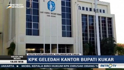 KPK Geledah Kantor Bupati Kutai Kartanegara