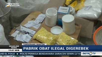 Polisi Gerebek Pabrik Obat Ilegal di Tangerang