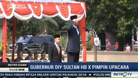 Sultan Hamengkubuwono X Pimpin Upacara Peringatan Hari Kesaktian Pancasila