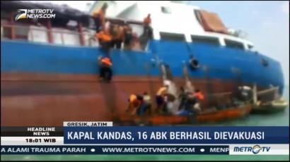 Kapal Kandas di Gresik, 16 ABK Berhasil Dievakuasi