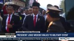 President Joko Widodo Walks to Military Event