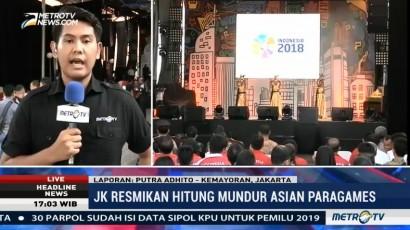 JK Resmikan Hitung Mundur Asian Para Games 2018