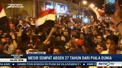 Absen 27 Tahun, Mesir Akhirnya Lolos ke Piala Dunia 2018