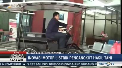 Mahasiswa Asal Surabaya Ciptakan Motor Listrik Pengangkut Hasil Tani