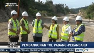 Menteri BUMN Tinjau Pembangunan Tol Padang-Pekanbaru