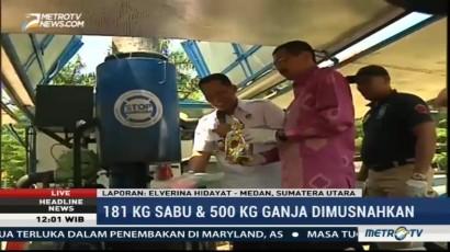 Buwas Hadiri Pemusnahan Narkoba di Medan