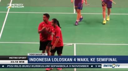 4 Wakil Indonesia ke Semifinal Kejuaraan Dunia Bulu Tangkis Junior 2017