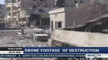 Drone Footage of Destruction in Raqqa