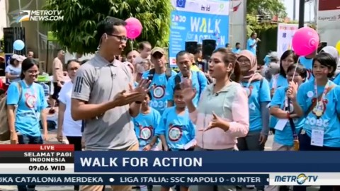 Walk for Action, Aksi Dukung Pencapaian SDGs di Indonesia (1)