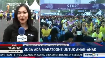 Belasan Ribu Pelari dari Berbagai Negara Ramaikan Jakarta Marathon