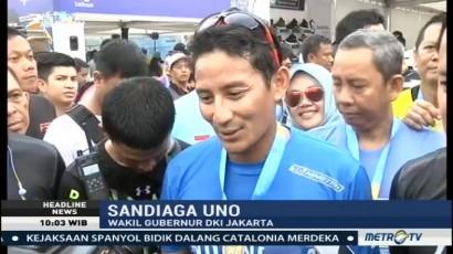 Sandiaga dan Bima Arya Ikut Jakarta Marathon 2017