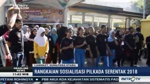 Sosialisasi Pilkada, KPU Langkat Gelar Gerak Jalan Santai