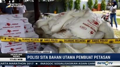 Polisi Sita 4 Ton Bahan Baku Petasan di Indramayu