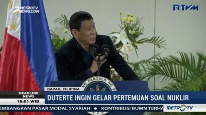 Duterte Imbau Harus Ada yang Bicara dengan Kim Jong-un Soal Nuklir