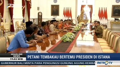 Petani Tembakau Bertemu Jokowi di Istana