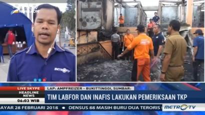 Tim Labfor dan Inafis Selidiki Penyebab Kebakaran Pasar Atas Bukittinggi