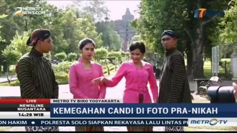 Kemegahan Candi Borobudur di Foto Prewedding