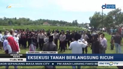 Eksekusi Tanah Sengketa di Desa Jelgung Berlangsung Ricuh