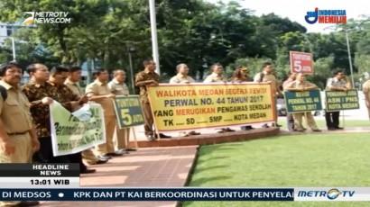 Ratusan Pengawas Sekolah Tagih Janji Wali Kota Medan soal Insentif
