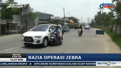 Hindari Razia, Pengendara Sepeda Motor Nyaris Tertabrak