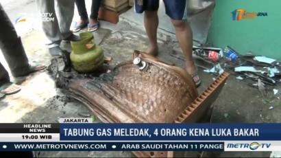 Tabung Gas Sebuah Warteg Meledak, 4 Orang Mengalami Luka Bakar