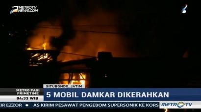 Kebakaran di Pasar Mangaran, 5 Mobil Damkar Dikerahkan