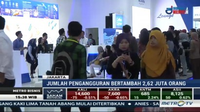 Jumlah Pengangguran Indonesia Bertambah 2,62 Juta Orang