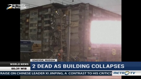 2 Killed as Apartment Building Collapses in Russia
