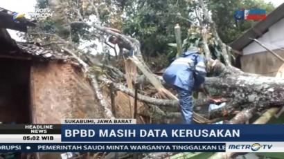 Puluhan Rumah di Sukabumi Rusak Diterjang Angin Puting Beliung