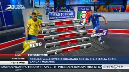 Perkiraan Formasi Swedia vs Italia