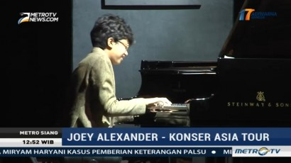 Joey Alexander Akhiri Rangkaian Konser Asia Tour di Indonesia