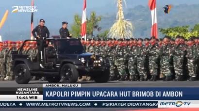 Kapolri Pimpin Upacara HUT Brimob di Ambon