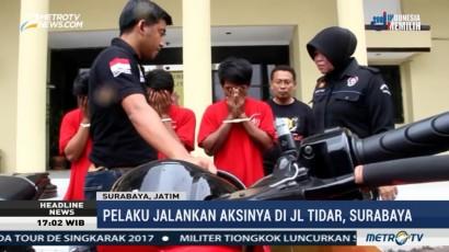 Polisi Ringkus Spesialis Perampas Motor di Surabaya
