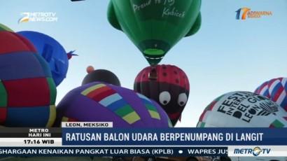 Ratusan Balon Udara Unik Hiasi Langit Kota Leon Meksiko