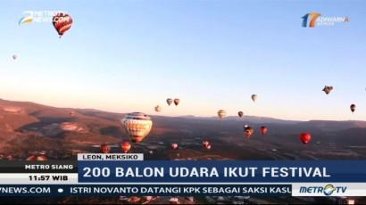 Sekitar 200 Balon Udara Hiasi Langit Meksiko