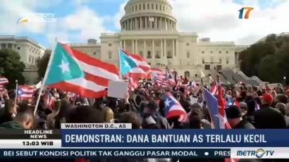 Massa Demo Desak AS Segera Beri Bantuan ke Puerto Rico